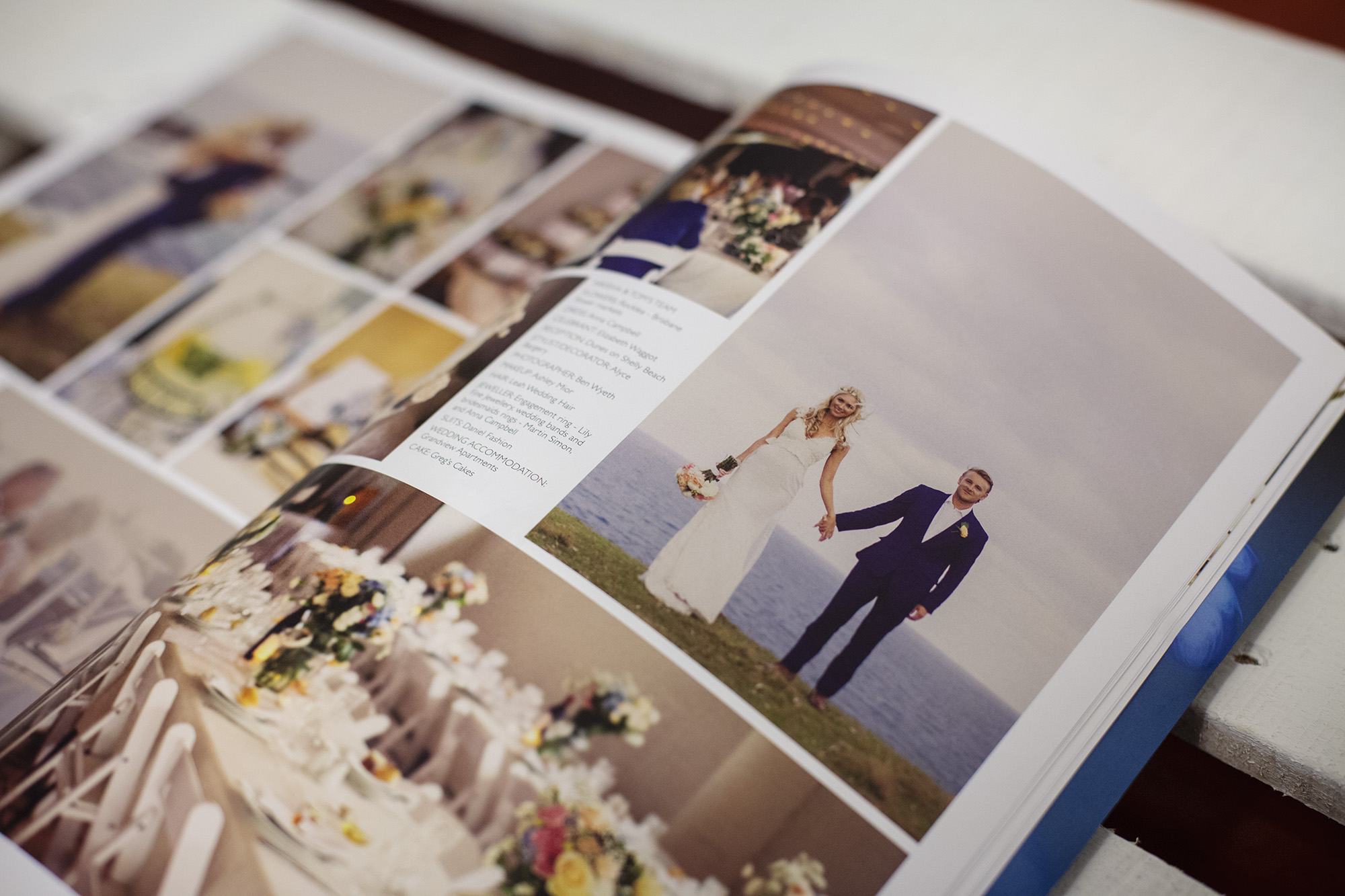 Photography featured in north coast weddings magazine
